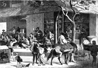 Early tea trading in China
