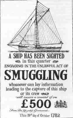 Smuggling tea - reward poster