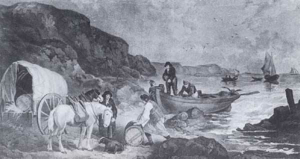 Tea smuggling on the UK coast