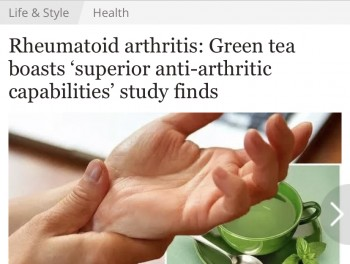 Rheumatoid arthritis: Green tea boasts 'superior anti-arthritic capabilities' study finds
